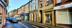 En gata i den irländska staden Monaghan.