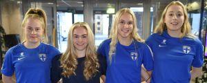 Annika Huhta, Dana Leskinen, Alisa Hokkanen och Emma Immonen åker till VM.