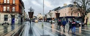 Centrum av staden Dundalk i nordöstra Irland.