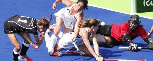 Nya Zeeland och Tyskland möttes i OS-turneringen i Rio.