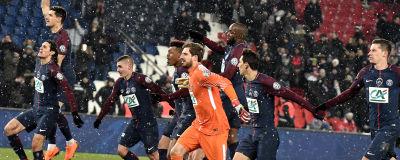PSG-spelare jublar efter seger. 1768bb98211fc