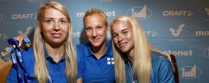 Sara Kuivisto, Camilla Richardsson och Alisa Vainio.