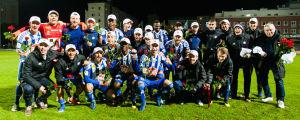 HJK firade det säkrade ligaguldet i Tammerfors dem 26 september.