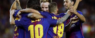 Lionel Messi firas efter hattrick mot Espanyol. b4ce31250b6c3