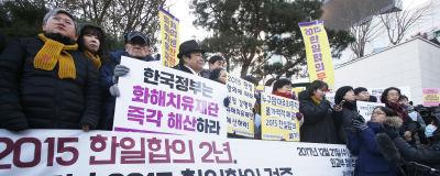 Kaotiska protester mot japansk lag