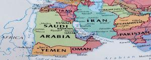 Karta över Jemen mfl länder