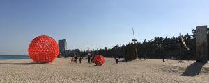 Gyeongpo Beach är en populär strand i Gangneung.