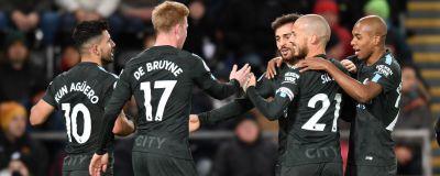 Manchester City-spelare firar lagets första mål. c79326363bd2c
