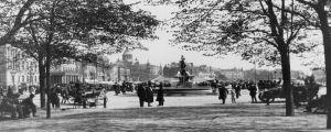 Vy över Havis Amanda från Esplanadparken, ca 1913-1915.