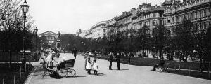 Esplanadparken i Helsingfors 1910-talet.