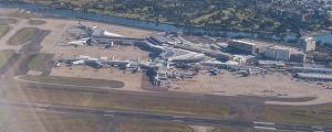 Sydneys internationella flygplats Kingsford Smith.