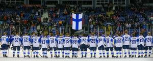 Finland redo för match.