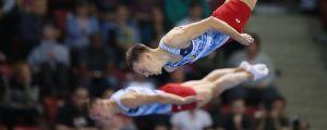 Den vitryska OS-mästaren Uladzislau Hancharou tillsammans med Aleh Rabtsau i VM-2017 i Sofia.