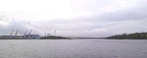 Två öar utanför Raumo hamn.