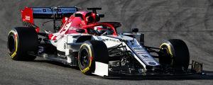 Kimi Räikkönen i sin nya Alfa Romeo.