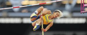 Angelica Bengtsson hoppar vid VM 2017.