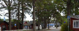 Strandvägen i Nagu.