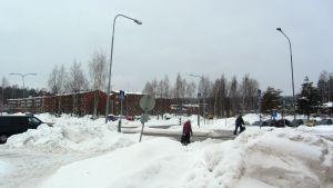 Korsning i Söderkulla, vinter