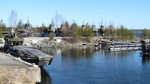 Militärt övningsområde i Syndalen i Hangö.
