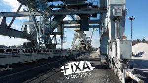 Koltrafikverkets hamn i Ingå