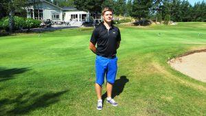 Christoffer Salomaa vid Rönnäs Golf