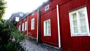 Hus i Gamla stan i Borgå.