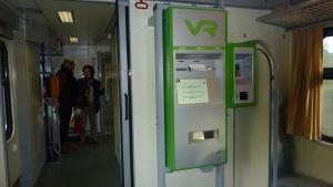 Rälsbussens automat var inte i gång den 29 september 2014.