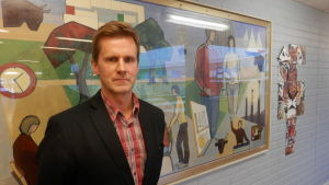 Rektor Peter Lindqvist vid Oxhamns skola