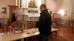 Församlingsvalet i Jakobstad hålls i kyrkan