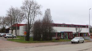 Den gamla redaktions- och tryckeribyggnaden vid Östra Tullgatan 10 i Lovisa