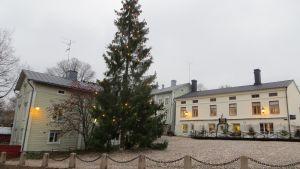 Julgranen vid gamla rådhustorget i Borgå