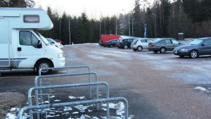 Anslutningsparkeringen i Drägsby i Borgå