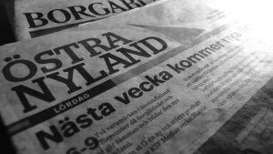 de östnyländska tidningarna Borgåbladets och Östra Nylands sista nummer