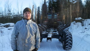 Skogsägare Robert Flén i Nykarleby