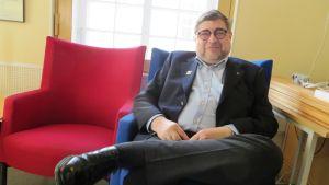 Sune Lang, president i sjuttioåriga Borgå Rotaryklubb