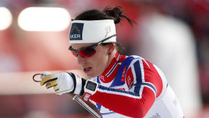 Marit Björgen vann tremilen i Holmenkollen.