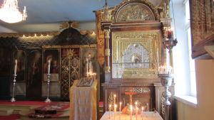 Lovisa ortodoxa kyrka, den heliga jungfru Maria Kazanskayas kyrkas ikon