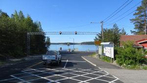 färjfäste mellan Pargas och Nagu