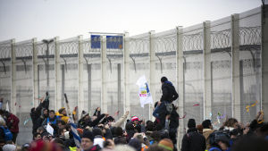 Flyktingstängsel i Calais, Frankrike
