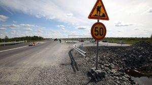 En tom väg i Pyhäjoki
