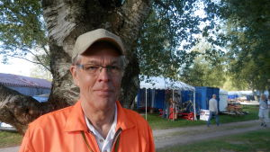 Dage Groop, ordförande för Jakobstadsnejdens veteranbilssällskap