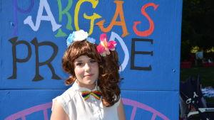 Carolina Wikman är en av initiativtagrna till prideparaden i Pargas.