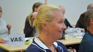 Fullmäktigeledamot Saara Lång (Sannf) i Lovisa