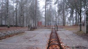 pyörätelineet koulun pihassa