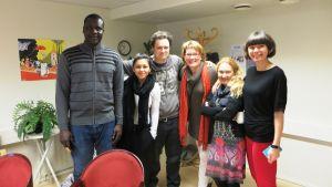 Invandrarlinjens elever har hög motivation att lära sig svenska säger linjeledare Catharina von Schoultz