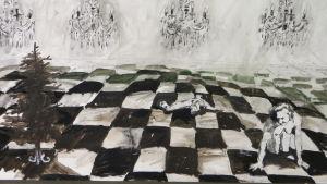tavla målad av beni juslin