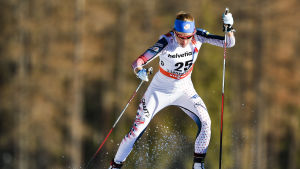 Sophie Caldwell  i Tour de Ski-spåret.
