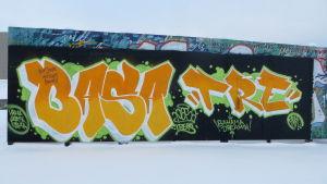 Laglig graffiti vägg