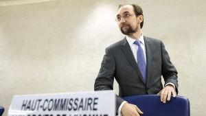 """""""Ingen amnesti för brott mot mänskligheten.""""  FN:s mänskorättskommissionär Zeid Ra'ad al-Hussein varnar för eftergifter i fredssamtal om Syrien"""