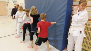 Yuji Matsuoi lär ut karate för hela familjen i Sibbo
